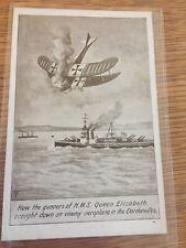 Postcard Gunners Of Hms Queen Elizabeth Bringing Down Enemy Aircraft Dardanelles