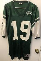 Vintage 1998 Keyshawn Johnson NFL New York Jets #19 Starter Jersey Men Size 48/L