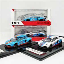JEC 1:64 LB Performance Lamborghini Aventador 2.0 GULF Martini with Roof Box
