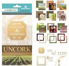 NEW Scrapbooking Crafts Paper House Snap Shots Uncork & Unwind Wine Photos