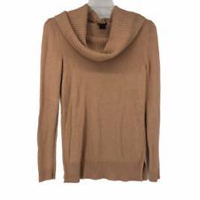 Ann Taylor Womens Pink Cowl Neck Long Sleeve Sweater Medium