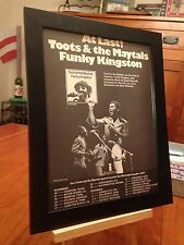 """FRAMED TOOTS & THE MAYTALS """"FUNKY KINGSTON"""" LP ALBUM CD PROMO AD w/ TOUR DATES!"""