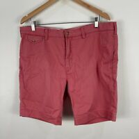 Ralph Lauren Mens Shorts 38 Light Red Chino Straight Fit Pockets