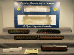 Fleischmann H0 4885 Personenzug Dampflok Lok-Nr. 2810 der KPEV Analog in OVP