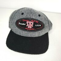 NCAA Texas A&M Aggies Nike Adult Gray Black Wool Adjustable Fit Cap Hat NEW
