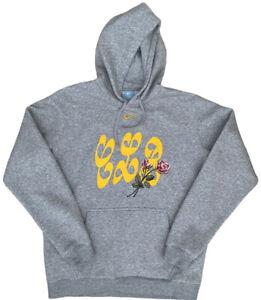 Drake Certified Lover Boy Nike Grey Hoodie Centre Tick Ovo Large