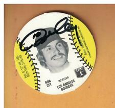 Ron Cey AUTOGRAPHED 1976 BURGER CHEF DISC BASEBALL CARD SIGNED LOS ANGELES