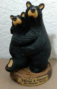 "Big Sky Carvers Bearfoots Forever & Always Anniversary Bears Jeff Fleming 5.25"""