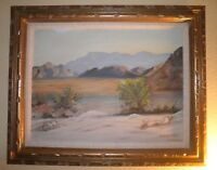 LOVELY CALIFORNIA PLEIN AIR IMPRESSIONISM PALM SPRINGS DESERTSCAPE OIL PAINTING