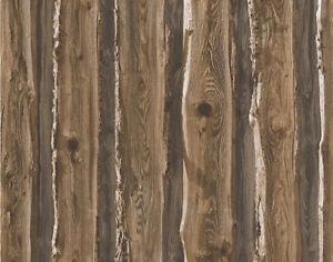 Brown Beige Wood Wallpaper Realistic Wooden Effect Grain Panel Natural Feature