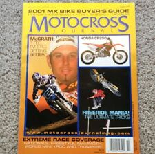 MOTOCROSS JOURNAL ACTION OCTOBER 2000 YZ KX RM CR VINTAGE MCGRATH VMX