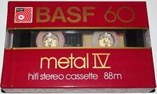*** UNE CASSETTE AUDIO VIERGE BASF 60 METAL IV / NEUVE COLLECTOR RARE ! ***
