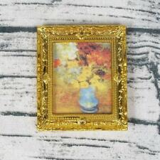 Mini 1:12 Doll House Miniature Flower Oil Painting Toy Room Accessories D.US