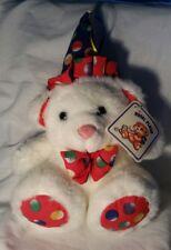 "Royal Plush Toys White Birthday Celebration Teddy Bear with Party Hat, 8"""