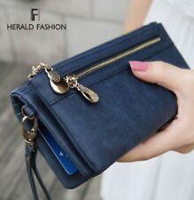 Fashion Women Wallets Polish PU Leather Handbag Clutch Purse Wristlet Portefeuil