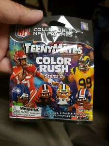 1 NFL TeenyMates Series 8 Color Rush (2 Figures) Licensed Factory Sealed Pack
