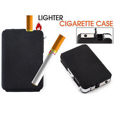 Creative Automatic Windproof Lighter Box Ejection Butane Cigarette Case Holder