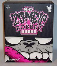 "Kidrobot MAD Zombie Robber 8"" Dunny Black SDCC Exclusive 2011 LE 300 Vinyl Art"