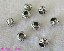 80pcs Tibetan silver drum spacers beads A9784