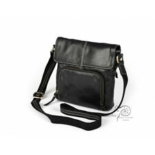 LEATHER CROSS BODY BAG 100% PURE SOFT NAPPA LEATHER black,brown,red,blue,tan,