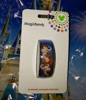 Disney Parks CHIP N' DALE CLASSIC Blue Magic Band Magicband 2 New Acorns &