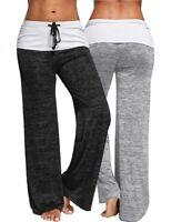 Lau-Fashion Damen Training Fitness Jogginghose Schwarz Yoga Leggings Bein S/M