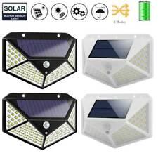 100LED Solar PIR Motion Sensor Wall Light Waterproof Outdoor Garden Lamp Decor