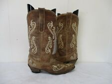 CORRAL Distressed Brown Leather Cowboy Boots Womens Size 8.5 M Style  R1974