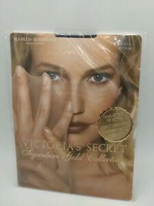 Victoria's secret Signature Gold Collection Black Medium Stockings Tights USA