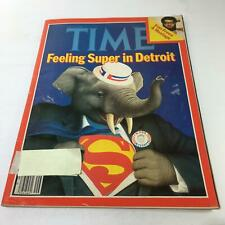 Time Magazine: July 21 1980 - Feeling Super in Detroit