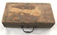 C. E. JENNINGS AUGER BIT 13PC SET wood dove tail box (BOX ONLY) Primitive Tool