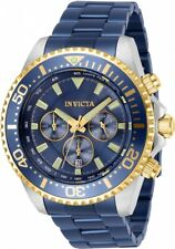 New Mens Invicta 27480 Pro Diver Quartz Chrono Two Tone Stainless Steel Watch