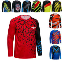 Men Cycling Jersey MTB Downhill T-Shirt Long Sleeve Bike Outdoor Bicycle Clothes