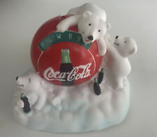 VINTAGE 1997 COCA COLA POLAR BEAR COIN PIGGY BANK