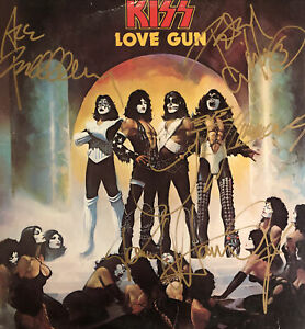 Kiss Love Gun LP Autographed By Simmons Stanley Frehley Criss