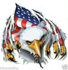 AMERICAN FLAG  EAGLE STICKER HELMET STICKER BUMPER STICKER LAPTOP STICKER WINDOW