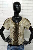 Maglia ICEBERG Donna Taglia 46 Shirt Blusa Camicia Woman Hemd T-shirt Leopardata