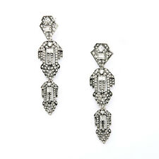 E2205 Fashion Design Art Deco Inspired Crystal CASABLANCA CHANDELIERS EARRINGS