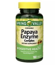 Spring Valley Papaya Enzyme 180 with Bromelain Chewable Tablets