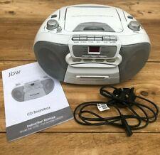 JDW CD Boombox - FM/AM Radio / CD Player / Cassette / AUX & Headphone Jack