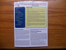 Genealogy At A Glance : Scots-Irish Genealogy Research