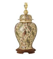 La lámpara de mesa de Cachemira Kutani por interiores 1900 sin sombra
