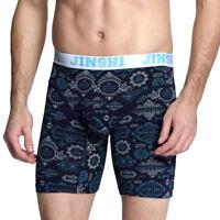 JINSHI Men Underwear long Boxers Comfortable soft elastic bamboo fiber