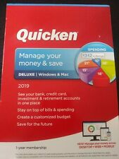 Quicken Deluxe Manage Your Money & Save 2019 For Windows & Mac New Sealed