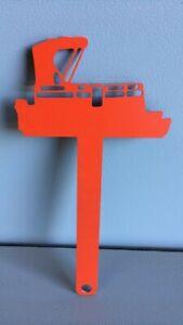 Pontoon Boat Mailbox Flag Metal Lake Life Aluminum CNC Art Hardware Included