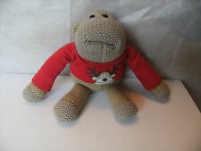 Pg Tips 6 Inch Chimp / Monkey Wearing Christmas Jumper Soft Toy