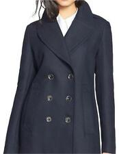 NWT BURBERRY WOMENS Tumblebridge Navy Cotton Pea Coat Suit JACKET UK 12 US 10