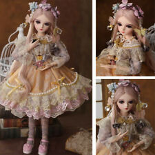 """24"""" BJD Doll 1/3 Princess Girl With Clothes Shoes Wigs Eyes Makeup Kids Gift Toy"""