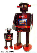 Giant Atomic Robot Man Tin Toy Windup St. John Toys M-65 Edition