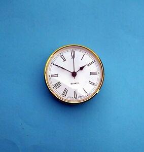 German 85mm BEZEL Quartz Clock  insert movement White Roman dial